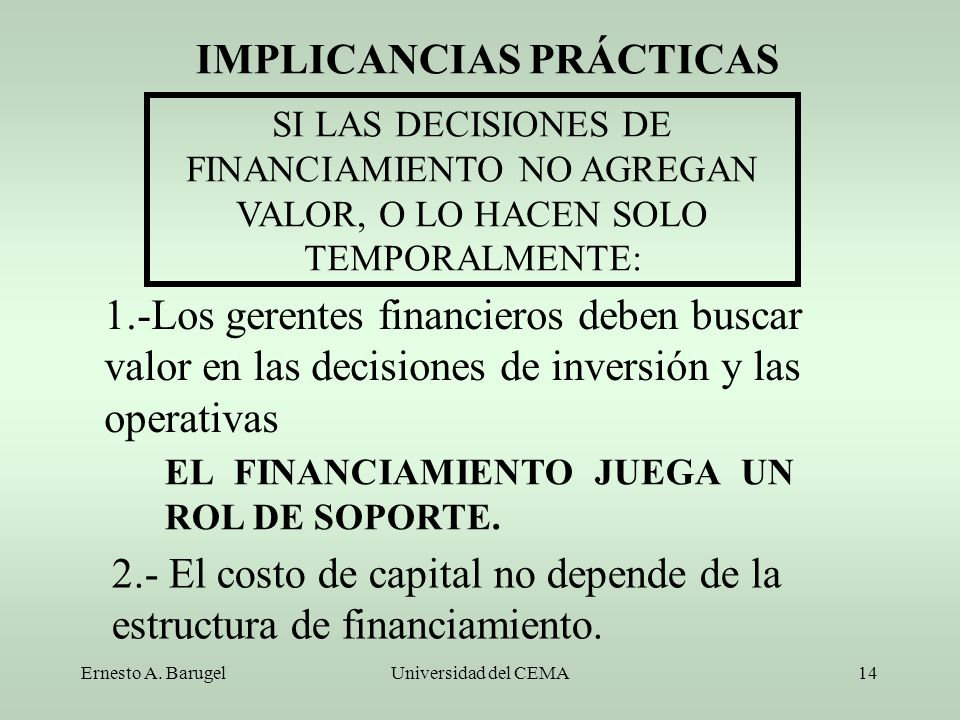 IMPLICANCIAS PRÁCTICAS