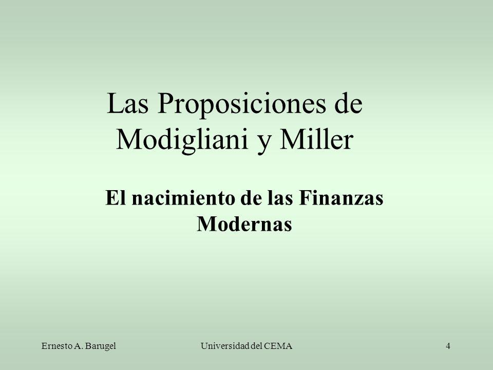 Las Proposiciones de Modigliani y Miller