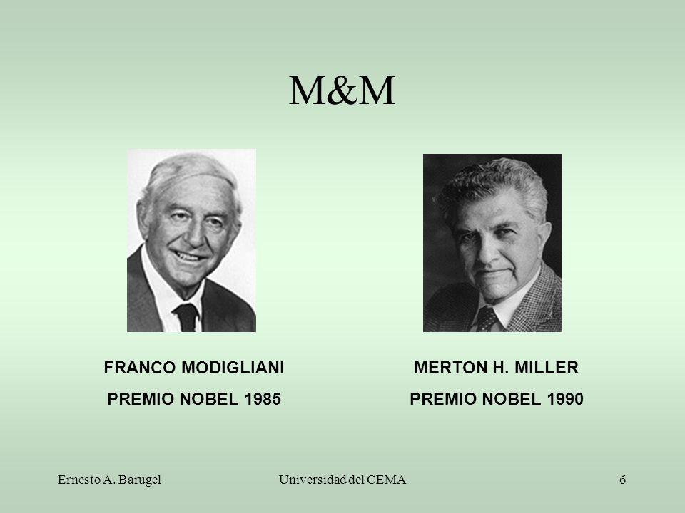 M&M FRANCO MODIGLIANI PREMIO NOBEL 1985 MERTON H. MILLER