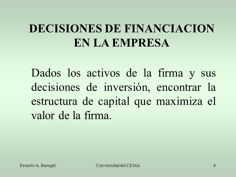 DECISIONES DE FINANCIACION