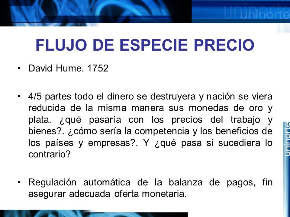 FLUJO DE ESPECIE PRECIO