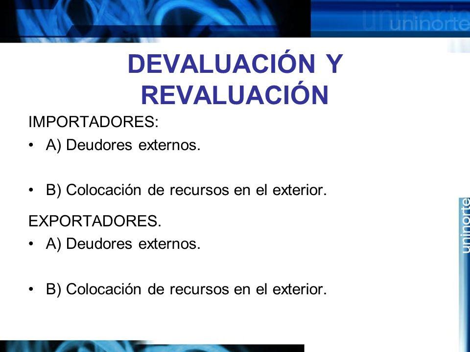 DEVALUACIÓN Y REVALUACIÓN