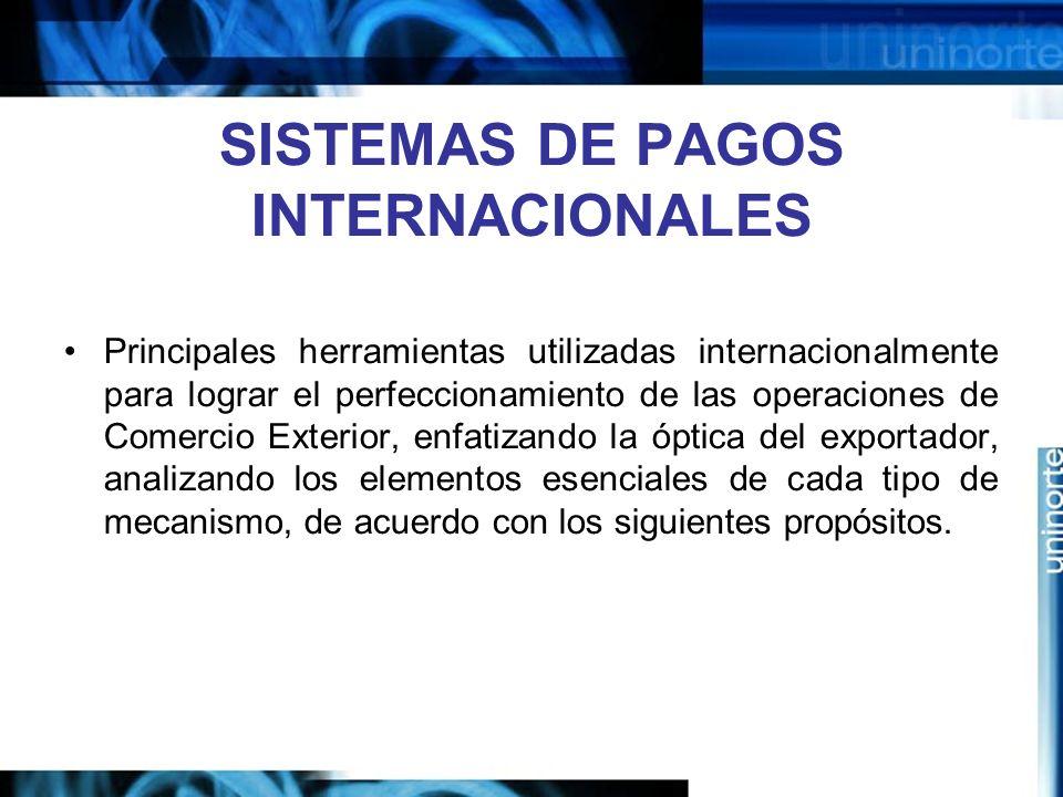 SISTEMAS DE PAGOS INTERNACIONALES