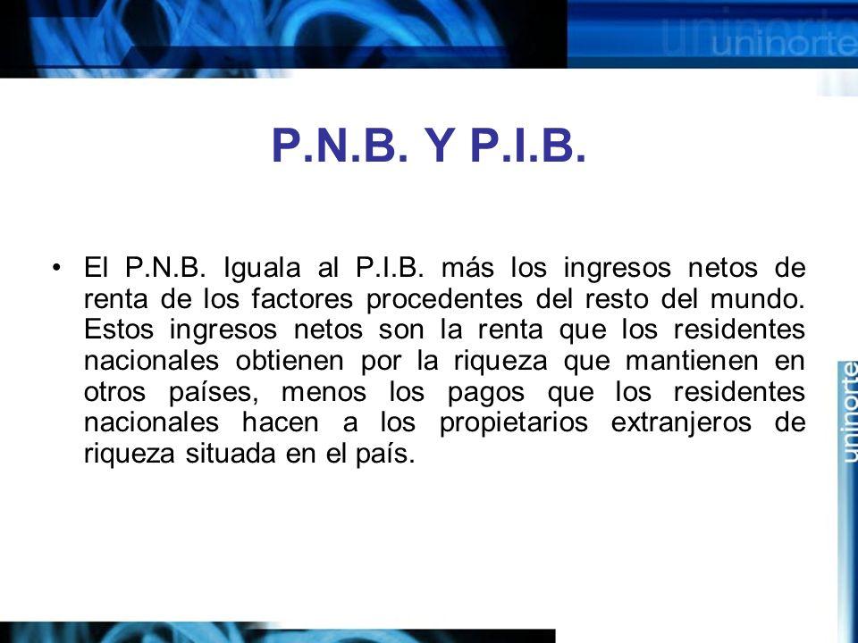 P.N.B. Y P.I.B.
