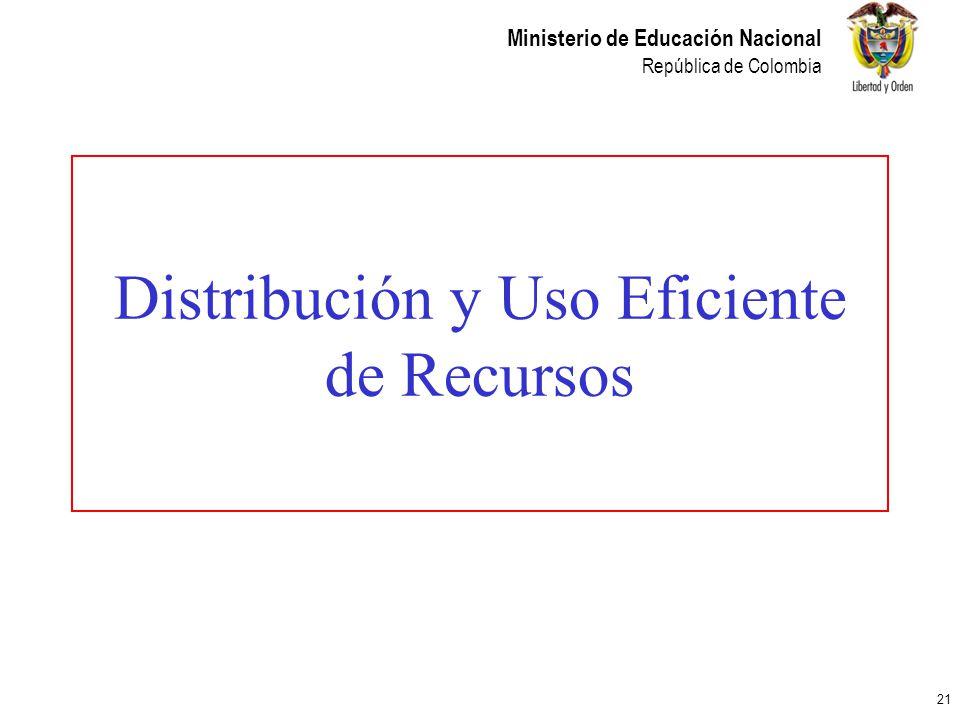 Distribución y Uso Eficiente de Recursos