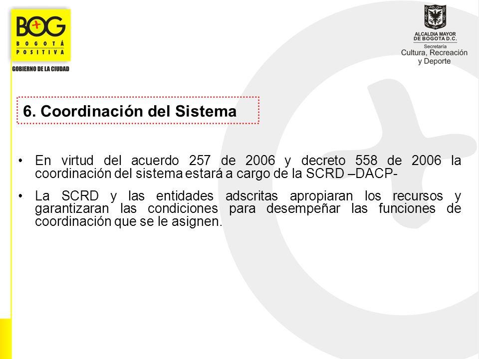 6. Coordinación del Sistema