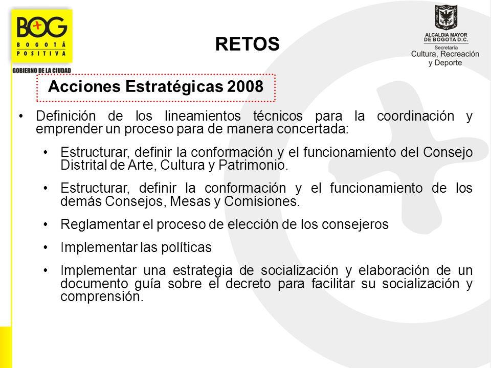 RETOS Acciones Estratégicas 2008