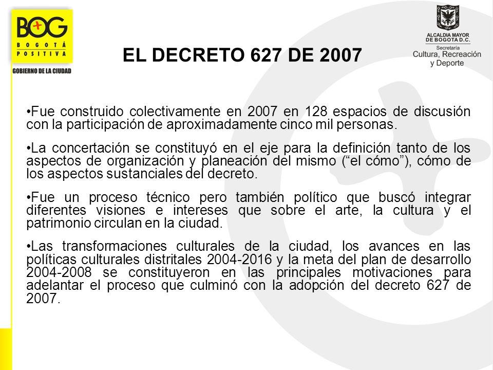 EL DECRETO 627 DE 2007