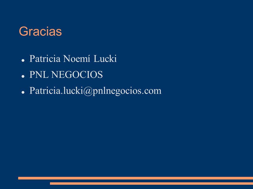Gracias Patricia Noemí Lucki PNL NEGOCIOS