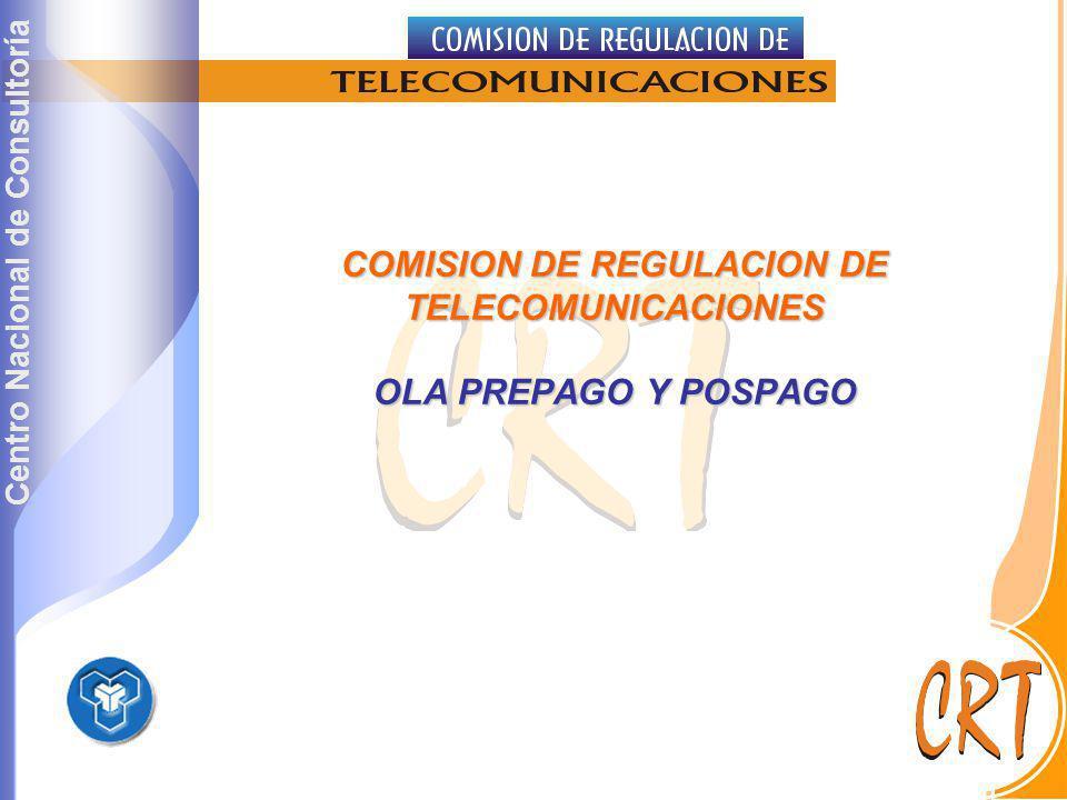 COMISION DE REGULACION DE TELECOMUNICACIONES OLA PREPAGO Y POSPAGO