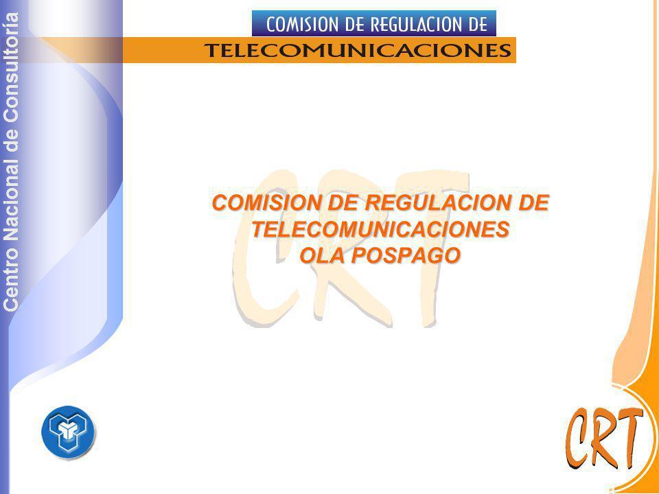 COMISION DE REGULACION DE TELECOMUNICACIONES OLA POSPAGO