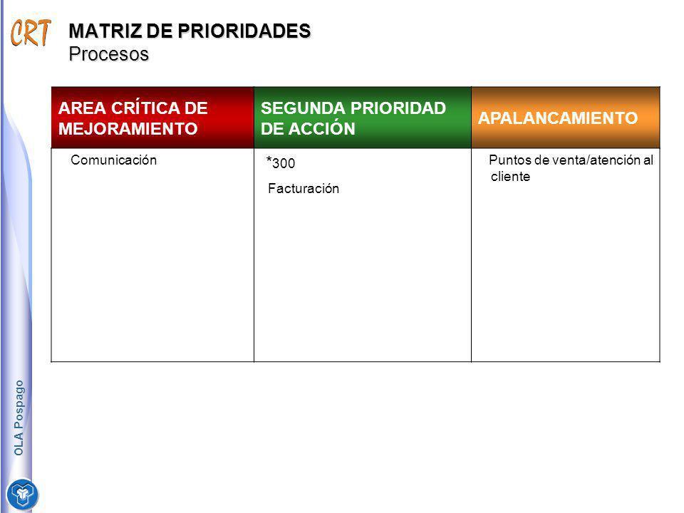 MATRIZ DE PRIORIDADES Procesos