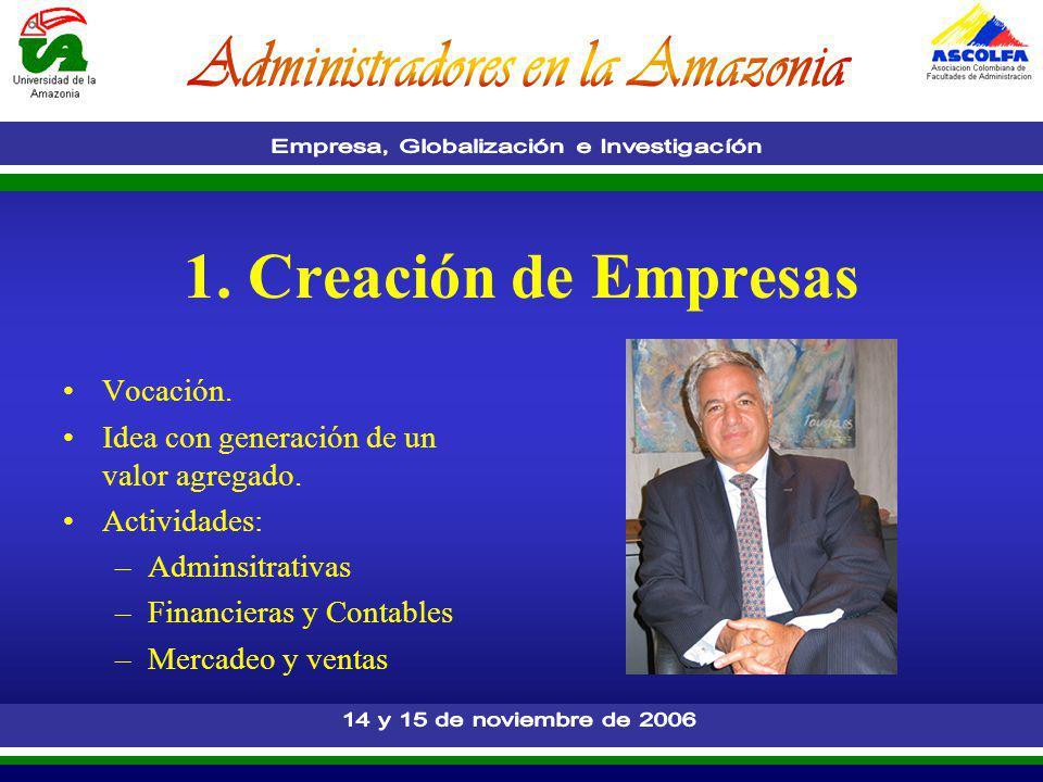 1. Creación de Empresas Vocación.