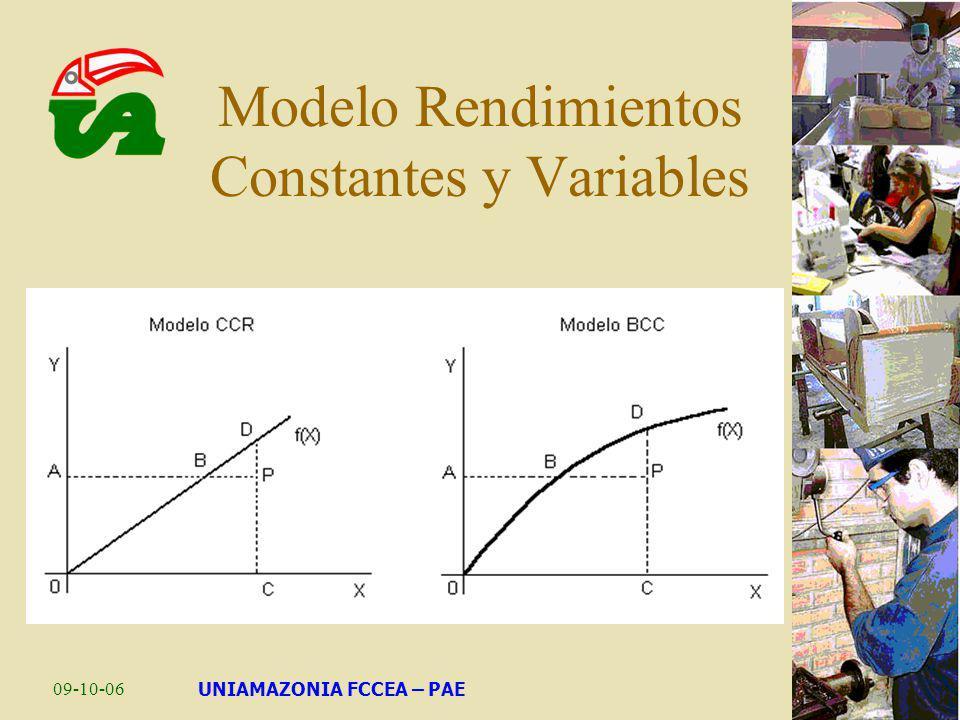 Modelo Rendimientos Constantes y Variables