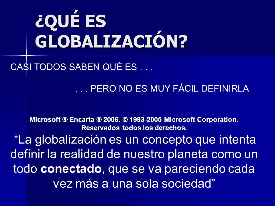 ¿QUÉ ES GLOBALIZACIÓN CASI TODOS SABEN QUÉ ES . . .