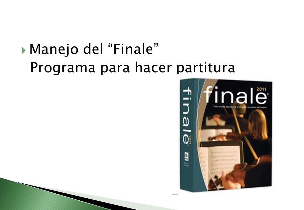 Manejo del Finale Programa para hacer partitura