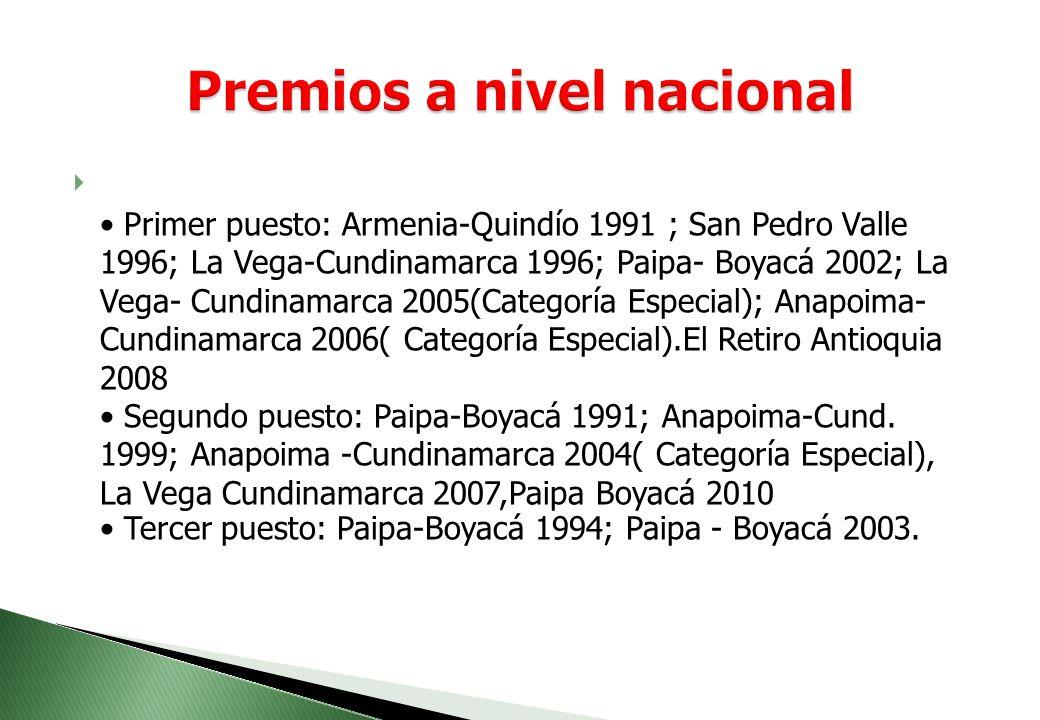 Premios a nivel nacional