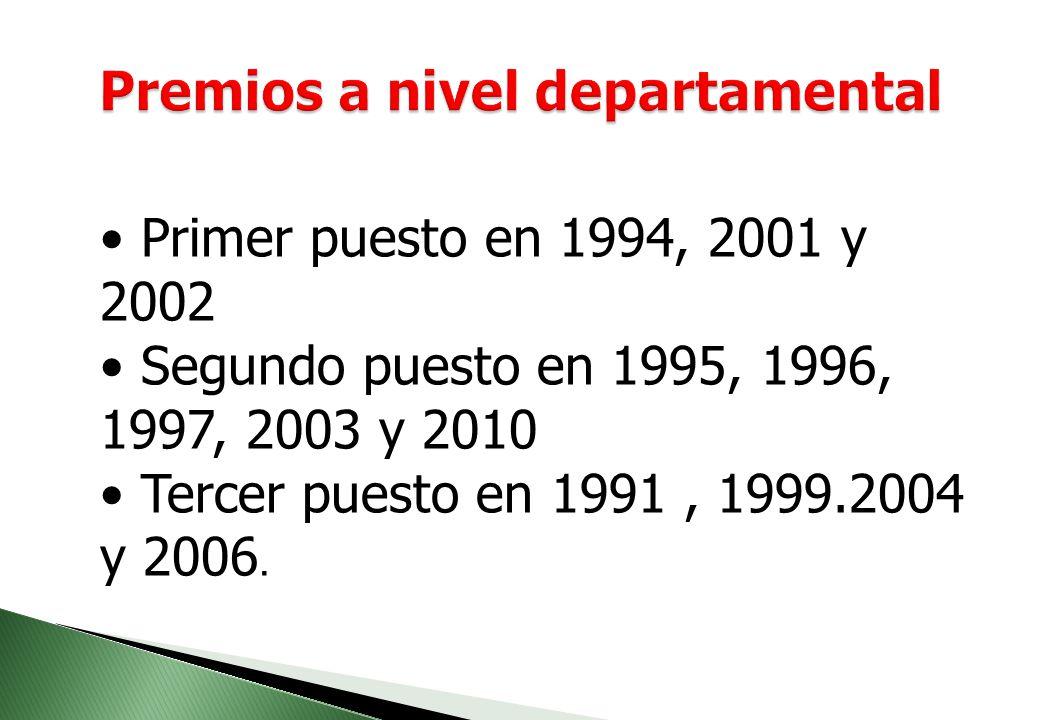 Premios a nivel departamental