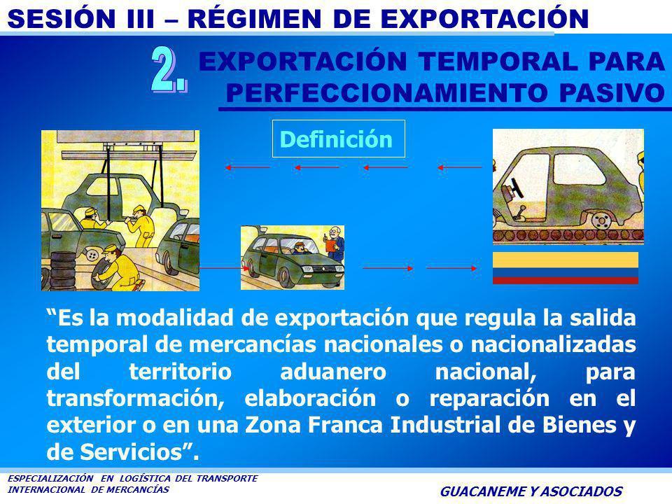 2. EXPORTACIÓN TEMPORAL PARA PERFECCIONAMIENTO PASIVO Definición