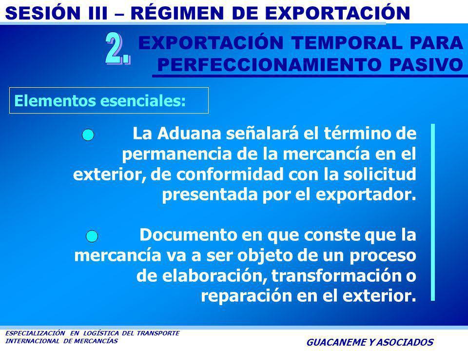 2. EXPORTACIÓN TEMPORAL PARA PERFECCIONAMIENTO PASIVO
