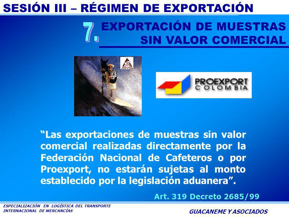 7. EXPORTACIÓN DE MUESTRAS SIN VALOR COMERCIAL