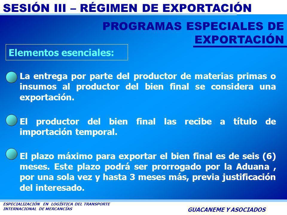 PROGRAMAS ESPECIALES DE EXPORTACIÓN