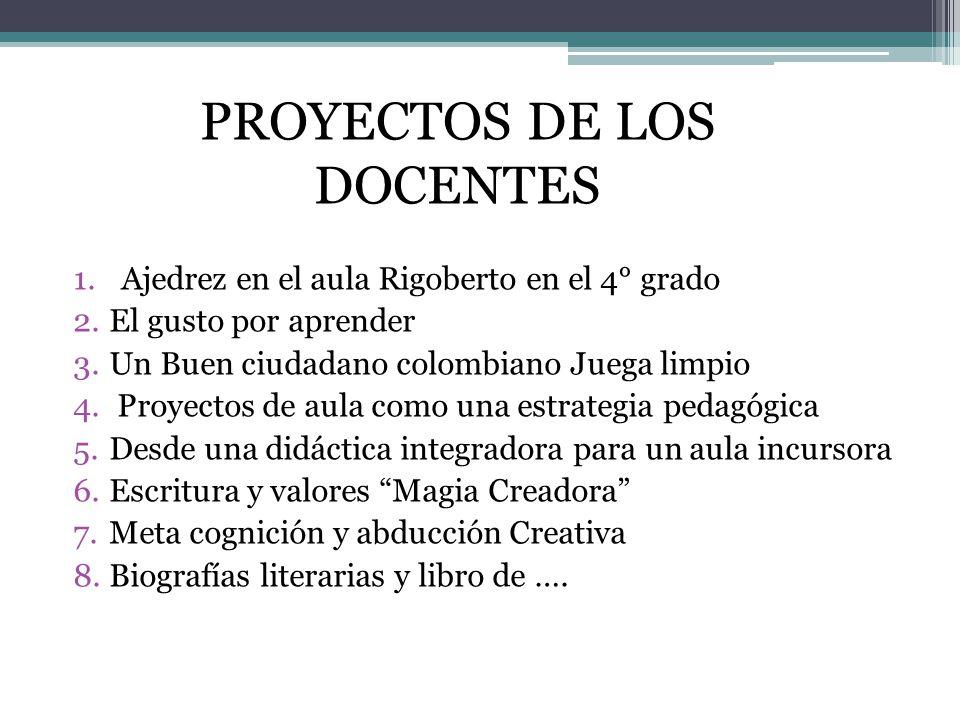PROYECTOS DE LOS DOCENTES