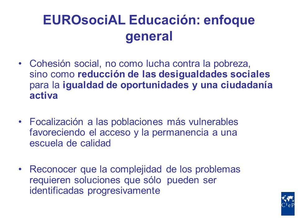 EUROsociAL Educación: enfoque general