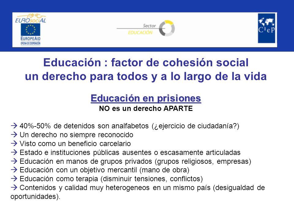 Educación : factor de cohesión social