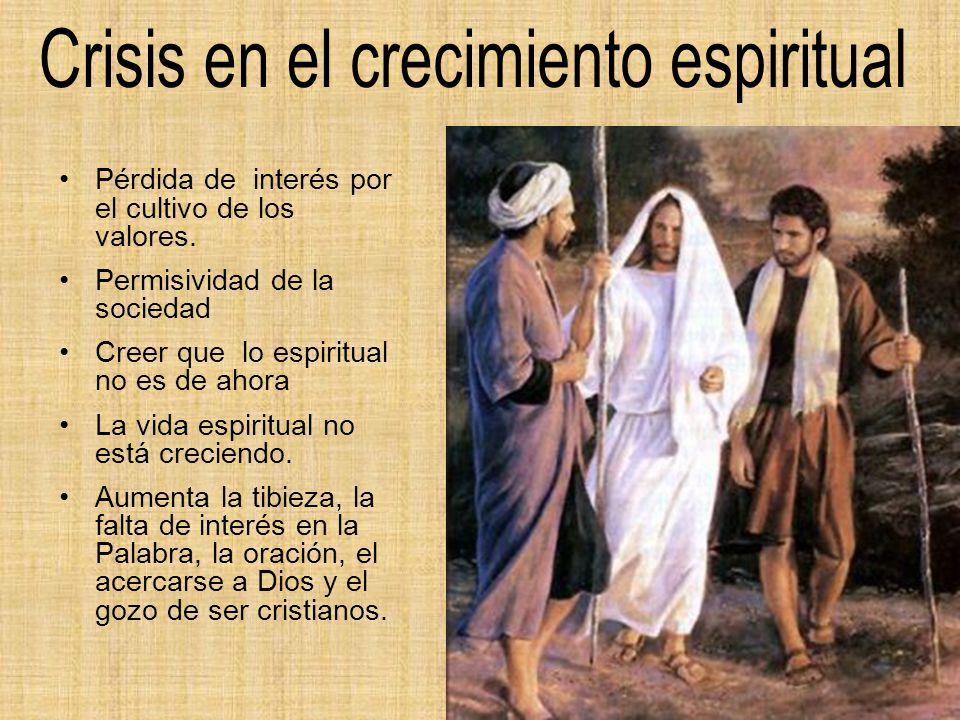 Crisis en el crecimiento espiritual