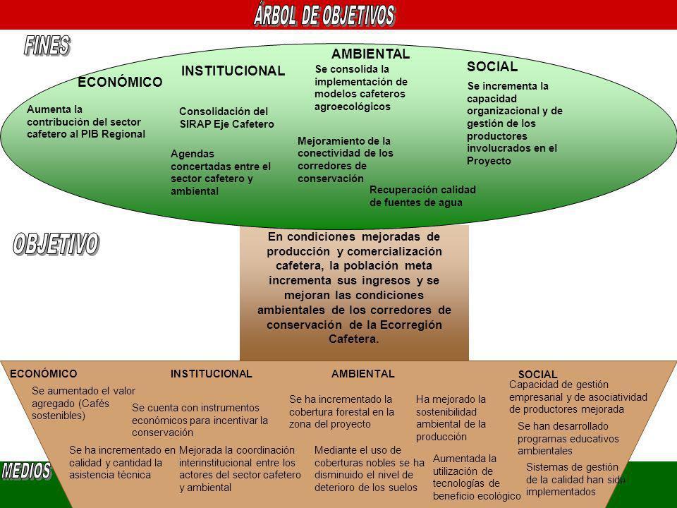 OBJETIVO FINES AMBIENTAL SOCIAL INSTITUCIONAL ECONÓMICO