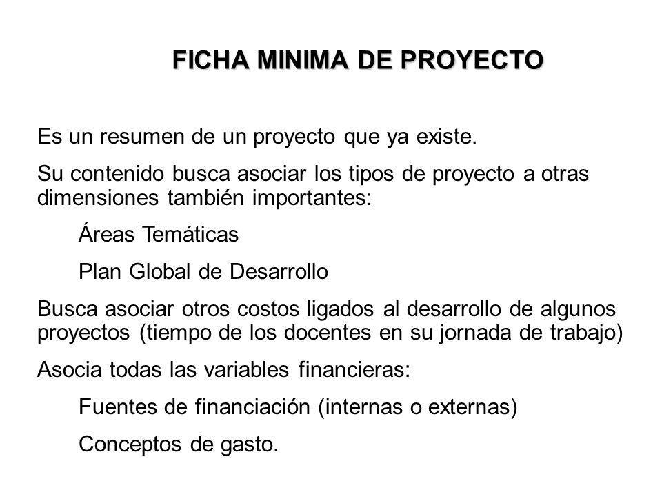 FICHA MINIMA DE PROYECTO