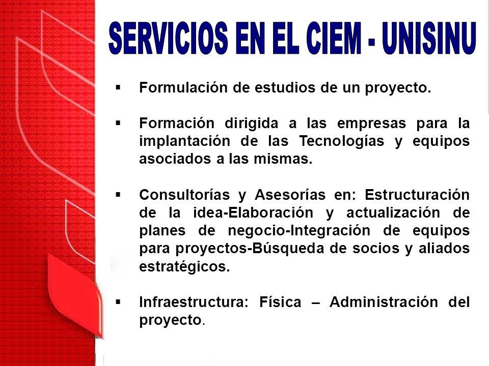 SERVICIOS EN EL CIEM - UNISINU
