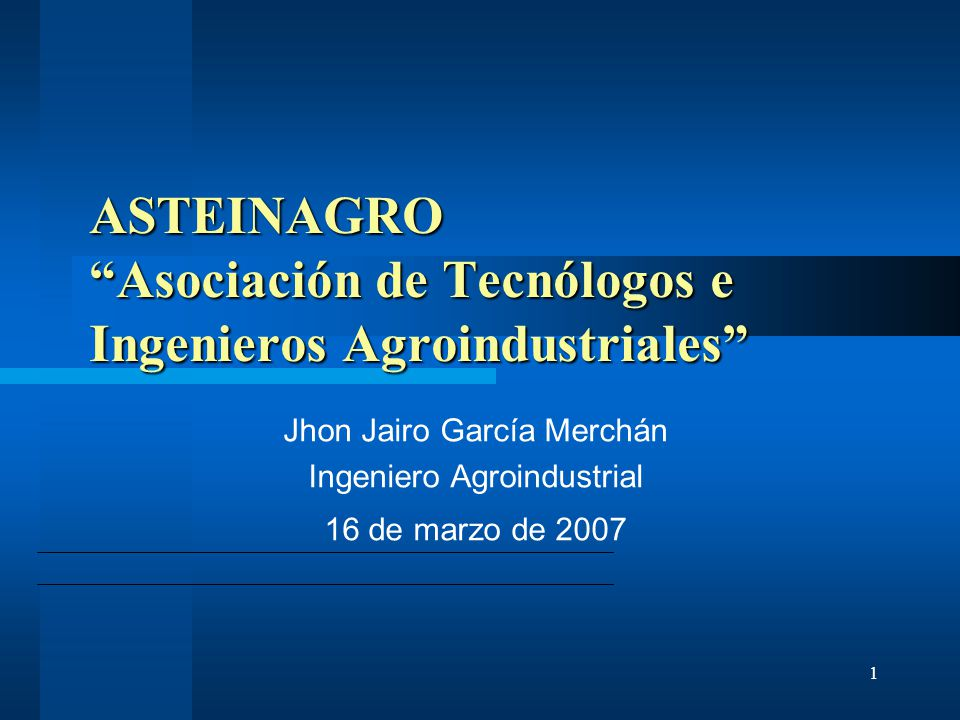 ASTEINAGRO Asociación de Tecnólogos e Ingenieros Agroindustriales