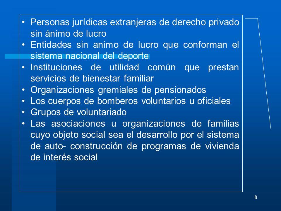 Personas jurídicas extranjeras de derecho privado sin ánimo de lucro