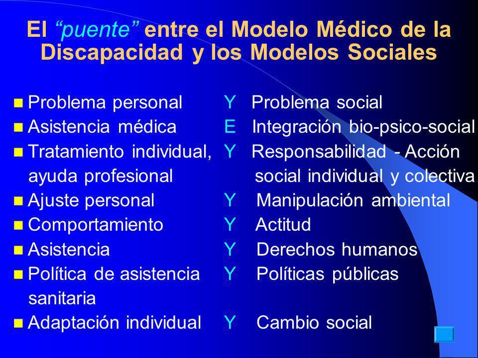 El puente entre el Modelo Médico de la Discapacidad y los Modelos Sociales