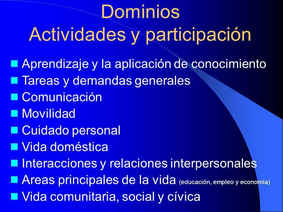 Dominios Actividades y participación