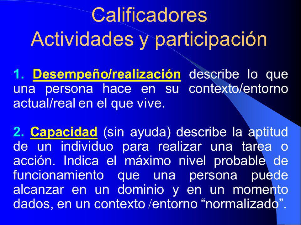 Calificadores Actividades y participación