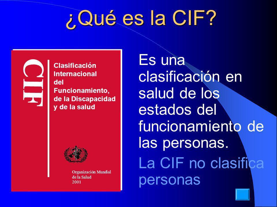 ¿Qué es la CIF Clasificación. Internacional. del Funcionamiento, de la Discapacidad. y de la salud.