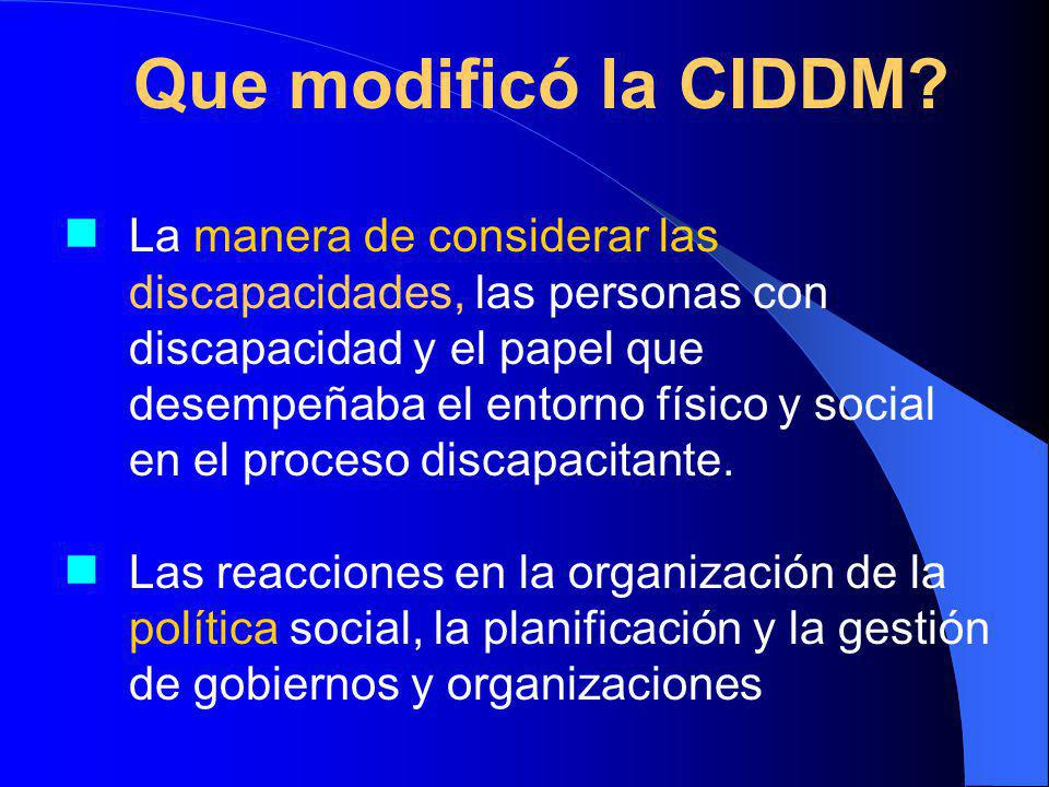 Que modificó la CIDDM