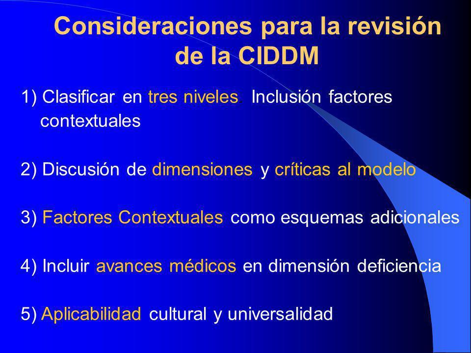 Consideraciones para la revisión de la CIDDM