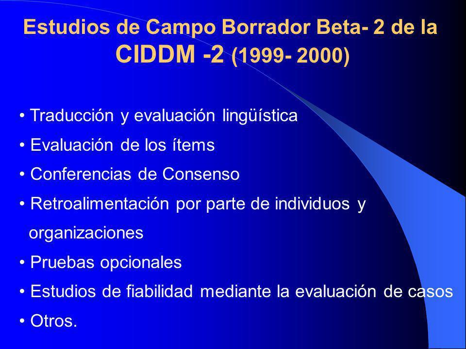 Estudios de Campo Borrador Beta- 2 de la