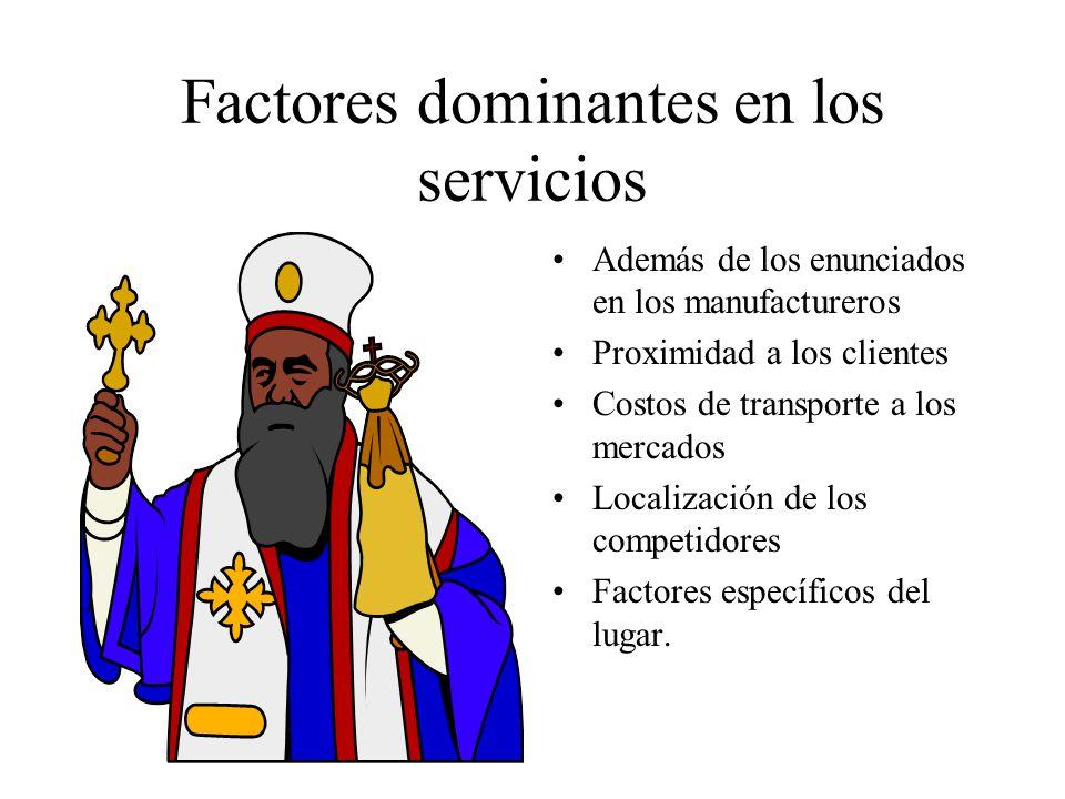 Factores dominantes en los servicios