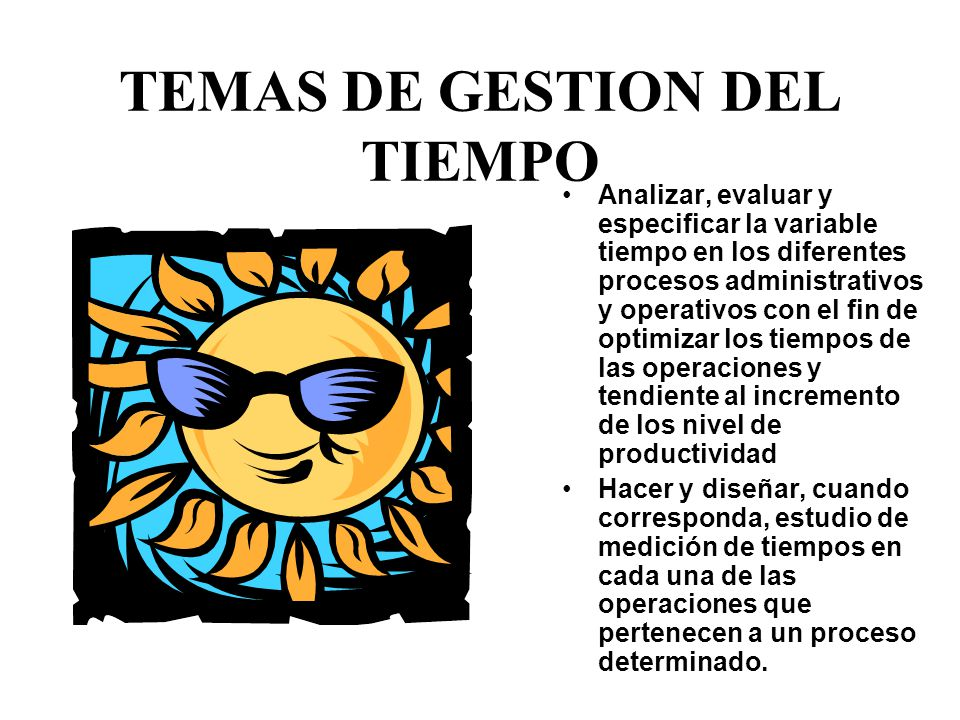TEMAS DE GESTION DEL TIEMPO