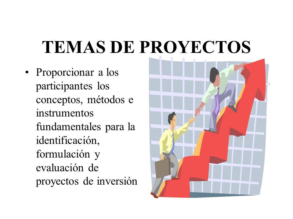 TEMAS DE PROYECTOS