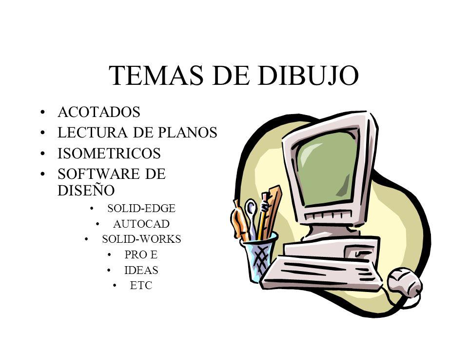 TEMAS DE DIBUJO ACOTADOS LECTURA DE PLANOS ISOMETRICOS