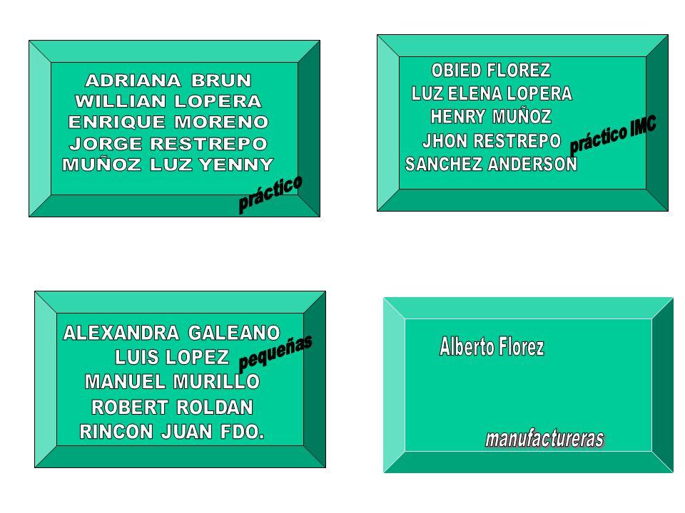 práctico IMC práctico pequeñas Alberto Florez manufactureras