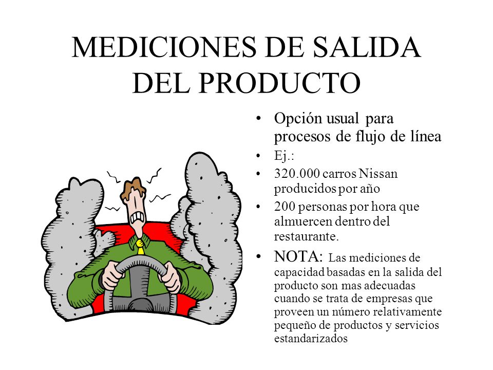 MEDICIONES DE SALIDA DEL PRODUCTO