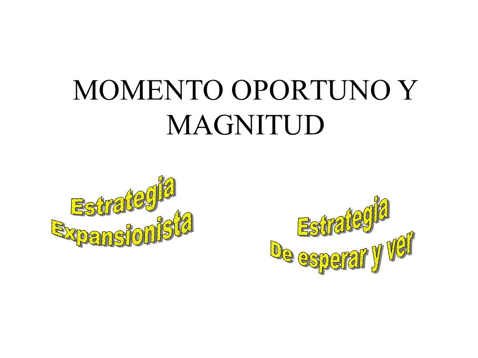 MOMENTO OPORTUNO Y MAGNITUD