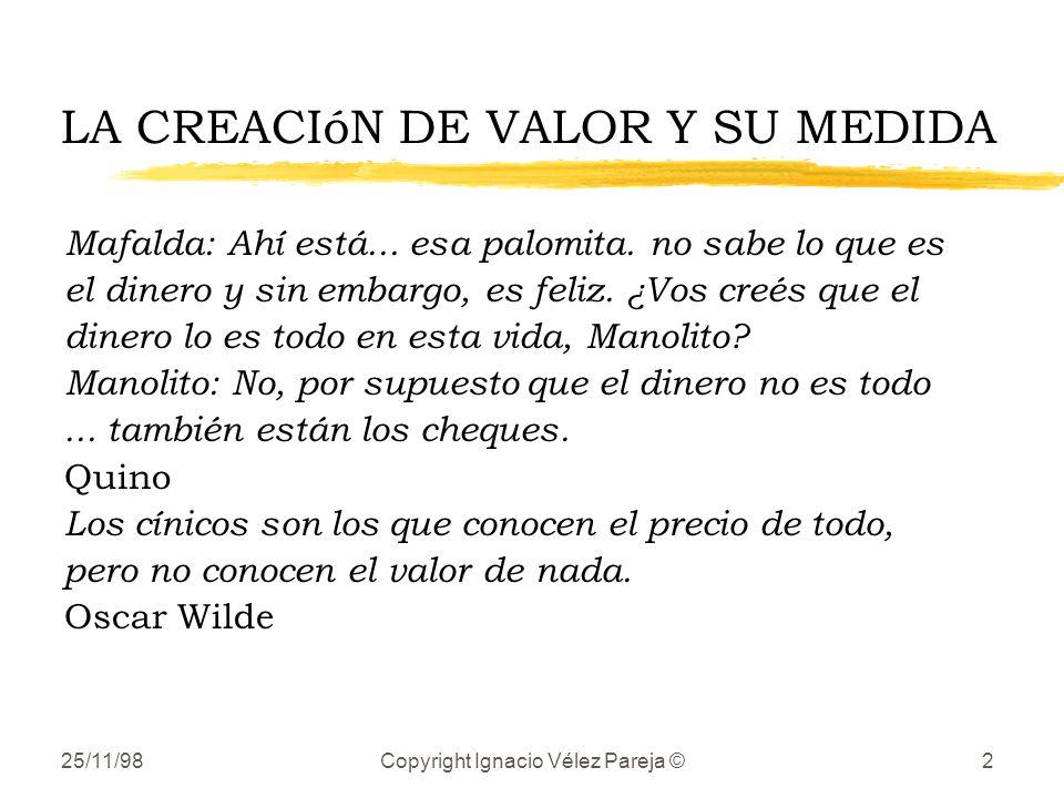 LA CREACIóN DE VALOR Y SU MEDIDA